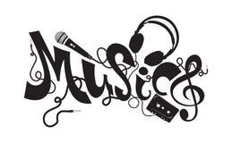 Musiktypographieelemente lizenzfreie stockfotografie