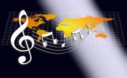 musikvärld vektor illustrationer