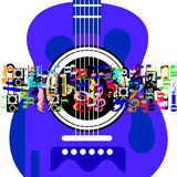 Musikvärld Royaltyfri Bild