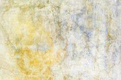 Musikvektor mit Mann Rotes Blaues und Gelbes des Schmutzes gemalt auf Betonmauer Beschaffenheitszusammenfassung für Hintergrund stockbilder
