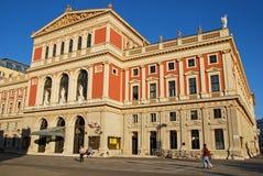 Musikverein音乐会大厅在维也纳,奥地利 库存照片