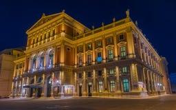 Musikverein-Gebäude des Wiener Würstchens, Wien, Österreich stockfotos