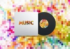 Musikvinyl stock illustrationer