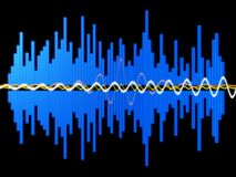 musikwave Royaltyfria Foton