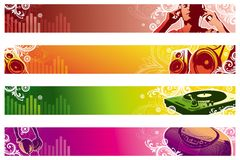 Musikweb-Fahnen lizenzfreie abbildung