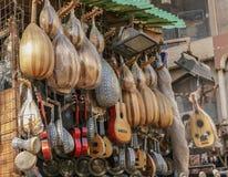 Musikwerkzeuge in Kairo, Ägypten stockfoto