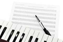 musikwriting Arkivfoto