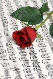 Musique 3 de Rose Photo libre de droits