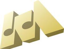 Musique 3D Illustration Stock