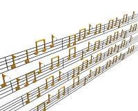 musique 3d photos libres de droits