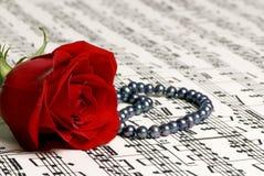 Musique 4 de Rose Photos stock