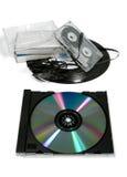 Musique analogique contre Digitals 2 photographie stock libre de droits