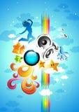 Moteur créatif de musique photographie stock libre de droits