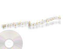 Musique d'or Photographie stock libre de droits