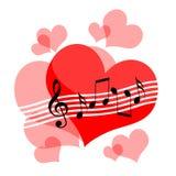 Musique d'amour illustration de vecteur