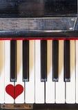 Musique d'amour de clavier Images stock