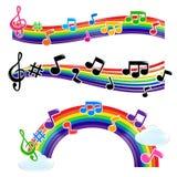 Musique d'arc-en-ciel Photos libres de droits