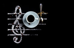 Musique d'arome de café image libre de droits