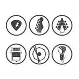 Musique 01 d'icône illustration de vecteur