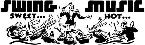Musique d'oscillation illustration libre de droits