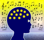 Musique dans l'éducation de petite enfance Images stock