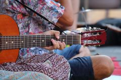 Musique dans la rue Photo libre de droits