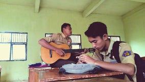 Musique dans la salle de classe Photographie stock libre de droits