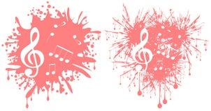 Musique dans la tache Photos libres de droits