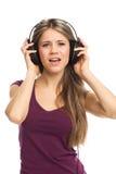 Musique, danse et chant de écoute Photos stock