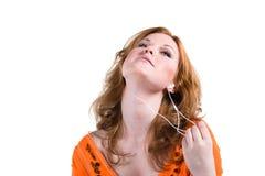 musique de écoute à Photographie stock