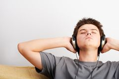 Musique de écoute Images libres de droits
