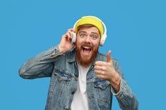 Musique de évaluation de hippie gai photo libre de droits