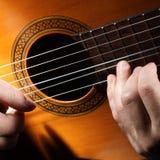 Musique de chaîne de caractères de guitare acoustique. Photos libres de droits