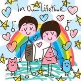 Musique de couples dans notre carte de vie Photographie stock libre de droits