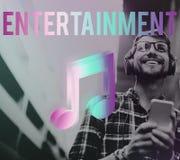 Musique de Digital coulant le concept en ligne de media de divertissement photo libre de droits