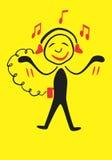 Musique de Fanat Images libres de droits