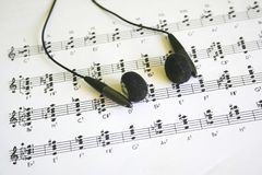 Musique de feuille Image stock