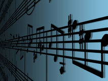 Musique de feuille Photo stock