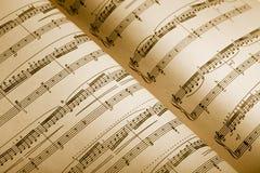 Musique de feuille Image libre de droits