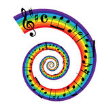 Musique de feuille d'arc-en-ciel Photos libres de droits