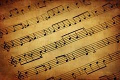 Musique de feuille de cru Images stock