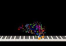 Musique de feuille de piano Image libre de droits
