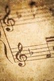 Musique de feuille de vintage Photos libres de droits