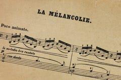 Musique de feuille de vintage avec le titre Photo libre de droits