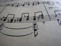 Musique de feuille Fin vers le haut rétro photographie stock libre de droits
