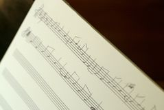 Musique de feuille manuscrite Images stock