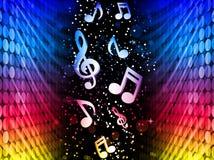 Musique de fond colorée abstraite d'ondes de réception pas Photos stock