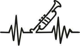 Musique de fréquence de trompette illustration de vecteur