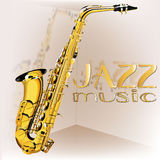 Musique de jazz de saxophone Photo libre de droits