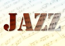 Musique de Juzz illustration stock